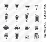 drink icons isolated on white... | Shutterstock .eps vector #155181605