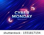 cyber monday sale poster design ... | Shutterstock .eps vector #1551817154