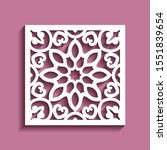 square tile with cutout paper... | Shutterstock .eps vector #1551839654