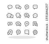 speech bubbles icon set in flat ...