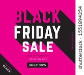 black friday social media post... | Shutterstock .eps vector #1551894254
