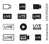 new live video icon. red... | Shutterstock .eps vector #1551924224