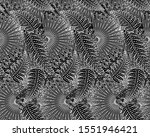exotic palms foliage ornament.... | Shutterstock .eps vector #1551946421