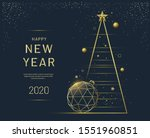 new year greeting card design... | Shutterstock .eps vector #1551960851