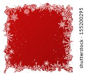 grunge red christmas background.... | Shutterstock .eps vector #155200295