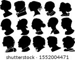 set of people silhouettes... | Shutterstock .eps vector #1552004471