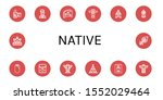Set Of Native Icons. Such As...