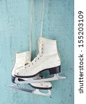 pair of white women's ice... | Shutterstock . vector #155203109