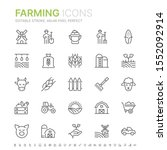 collection of farming related... | Shutterstock .eps vector #1552092914