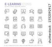 collection of e learning... | Shutterstock .eps vector #1552092917