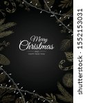 merry christmas background with ... | Shutterstock .eps vector #1552153031