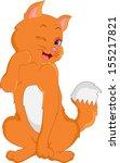 cute cat cartoon | Shutterstock .eps vector #155217821