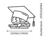 student loan linear icon.... | Shutterstock .eps vector #1552216964