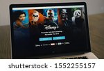 Small photo of Grand Prairie, TX/USA Nov 2019: MacBook displaying the Disney Plus pre-order webpage for new subscribers