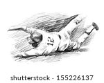 baseball player home run slide... | Shutterstock . vector #155226137