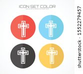 christian icon in trendy flat... | Shutterstock .eps vector #1552279457