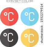 degree celsius icon in trendy...