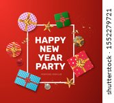 happy new year party invitation ... | Shutterstock .eps vector #1552279721