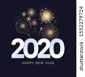 happy new year 2020 greeting... | Shutterstock .eps vector #1552279724