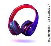 black and purple headphones... | Shutterstock .eps vector #1552283327