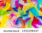 Many Colorful Feather Texture...