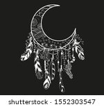 dreamcatcher. mystic symbol.... | Shutterstock .eps vector #1552303547