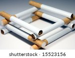 cigarettes in the shape of a... | Shutterstock . vector #15523156