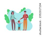 illustration between child ... | Shutterstock . vector #1552317134