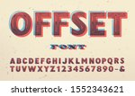 vector font with offset ink... | Shutterstock .eps vector #1552343621