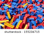 Blue  Red And Yellow Lego Toy...