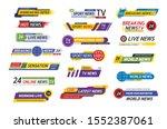tv title news bar logos  news... | Shutterstock .eps vector #1552387061