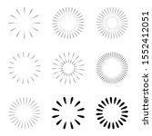 starburst and sunburst radial...   Shutterstock .eps vector #1552412051