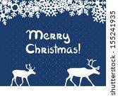 christmas blue greeting card... | Shutterstock . vector #155241935