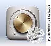volume knob icon vector  app...
