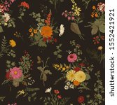 vintage floral illustration.... | Shutterstock .eps vector #1552421921