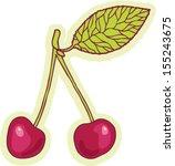 hand drawn cherry cartoon... | Shutterstock .eps vector #155243675