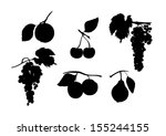 Black Silhouette  Of Fruits