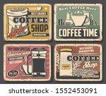 coffee shop retro cards  beans... | Shutterstock .eps vector #1552453091
