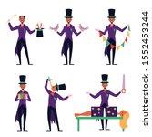 cartoon magician performing...   Shutterstock .eps vector #1552453244