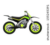 futuristic neon motorcycle
