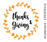 "hand drawn ""thanks and giving""... 