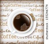 vector coffee themed design...   Shutterstock .eps vector #155246774