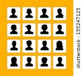 vector illustration of men and... | Shutterstock .eps vector #155247125