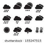 weather icons set | Shutterstock . vector #155247515