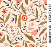 chintz floral pattern. vector... | Shutterstock .eps vector #1552476164
