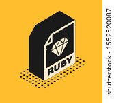 isometric ruby file document.... | Shutterstock .eps vector #1552520087