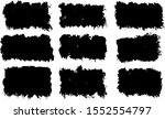 vector black paint  ink brush... | Shutterstock .eps vector #1552554797