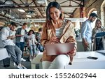 group of young multiracial... | Shutterstock . vector #1552602944