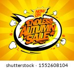 endless autumn sale vector... | Shutterstock .eps vector #1552608104