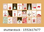 merry christmas greeting card... | Shutterstock . vector #1552617677